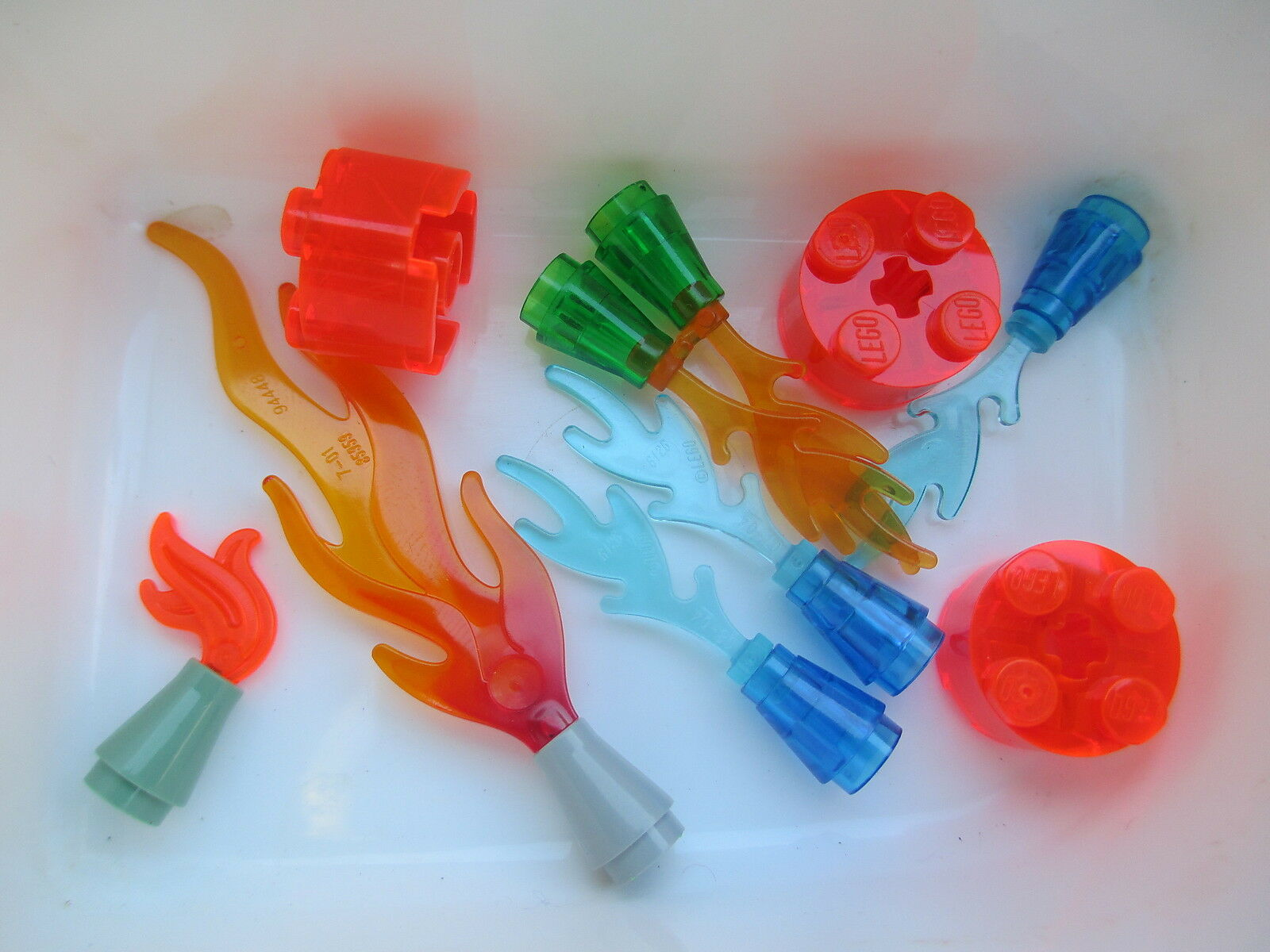 Lego City Town Harry Potter Friends Castle ASSORTED FLAMES FLAMES FLAMES Fire Lava Orange Blau 944741
