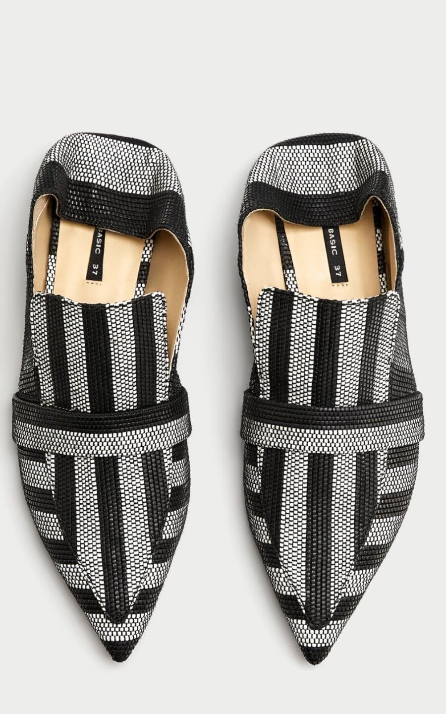 ZARA Collection Striped Flat Mule Loafers MulticolouROT Schuhes Gre EU-40 UK-7
