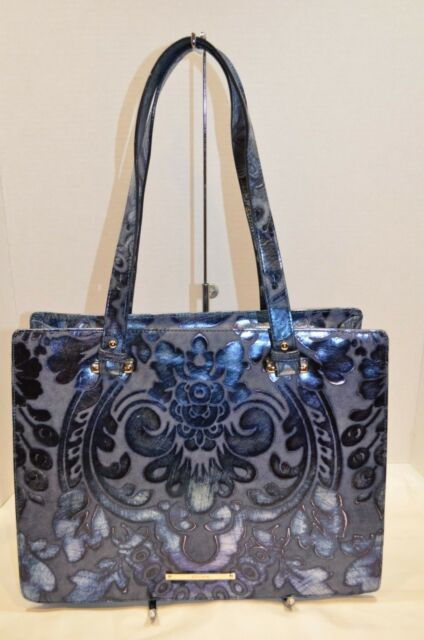 17fa125d0 NWT $395 Brahmin Medium Camille Blue Shergin Tote | eBay