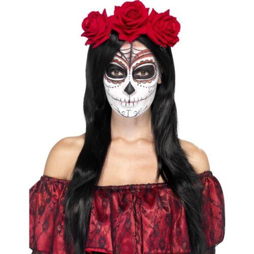 Women/'s Day Of The Dead Head Band Halloween Fancy Dress Voodoo Horror Hen Night