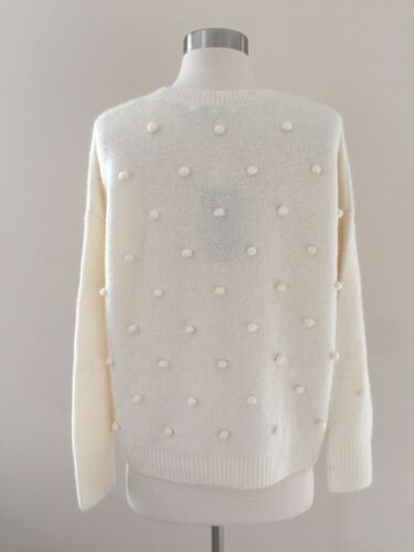 Nwt Størrelse Madewell 98 Sweater F9735 Xs Ivory Pullover Bobble Antique Cream aAarw4q