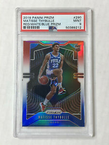 MATISSE-THYBULLE-2019-Prizm-RED-WHITE-BLUE-PRIZM-SP-RC-PSA-MINT-9-290-76ERS