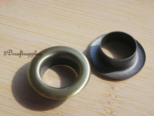eyelets metal with washer grommets anti brass round 40 sets 12 mm G51