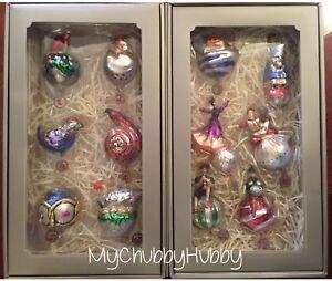 NIB Pottery Barn ~12 DAYS of CHRISTMAS~ Ornament SET ...