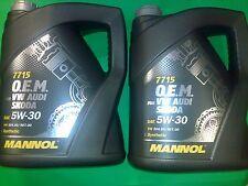 10L Mannol OEM VW Audi Skoda Seat BMW Mercedes Opel 5W-30 API SN/CF ACEA C3 LL04