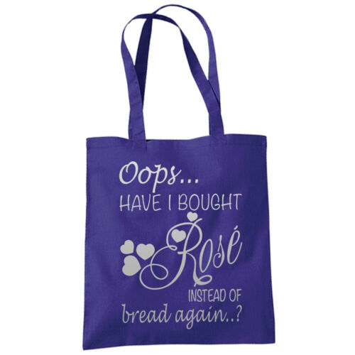 Oops Have I Brought Rose Instead Of Bread Tote Bag Funny Shopping Bags 38x42cm