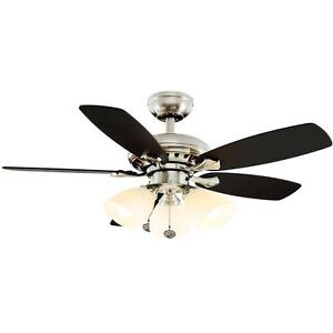 Luxenberg 36 in. Indoor Brushed Nickel Ceiling Fan Replacement Parts