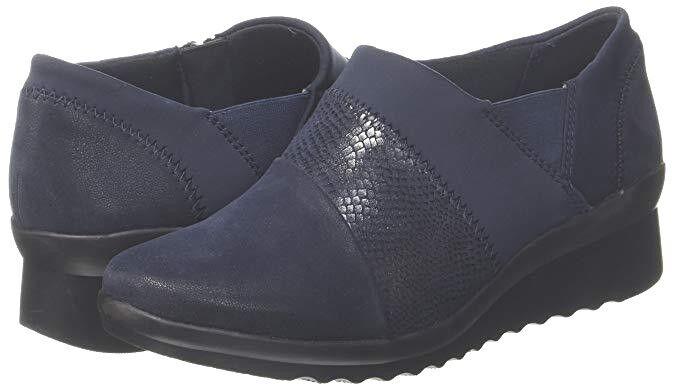 CLARKS CADDELL DENALI CLOUDSTEPPERS Blau COMFORT Schuhe SIZE 3.5 D TO 4.5 D