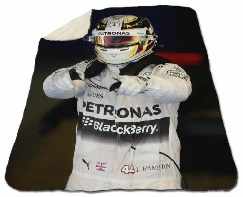 "Lewis Hamilton Blanket Winter Sherpa Fleece 60/"" x 80/"" Queen Size NEW Champ Win"
