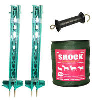 Electric Fence / Fencing: Green 3ft Post,40mm Tape Xvalue Kit