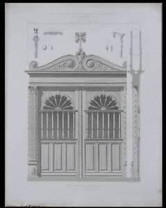Toulouse, Eglise St Etienne, Porte - 1867 -gravure Architecture