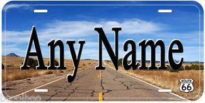 Route-66-Road-Any-Name-Personalized-Aluminum-Tag-Novelty-License-Plate