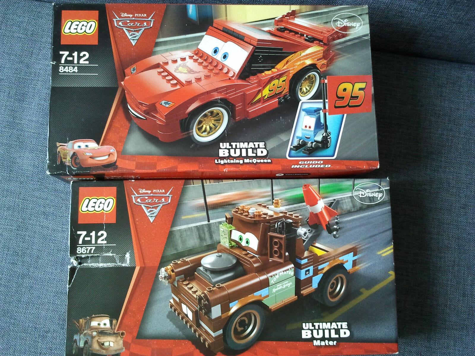 Lego Cars 8484 8677 Flash Martin Neufs Lightning McQueen Mater