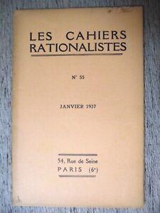 LES-CAHIERS-RATIONALISTES-N-55-1937-A-BAYET-RELIGION-ET-RATIONALISME