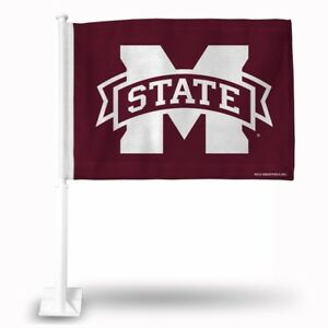 Rico Mississippi State Bulldogs NCAA 11X14 Window Mount 2-Sided Car Flag