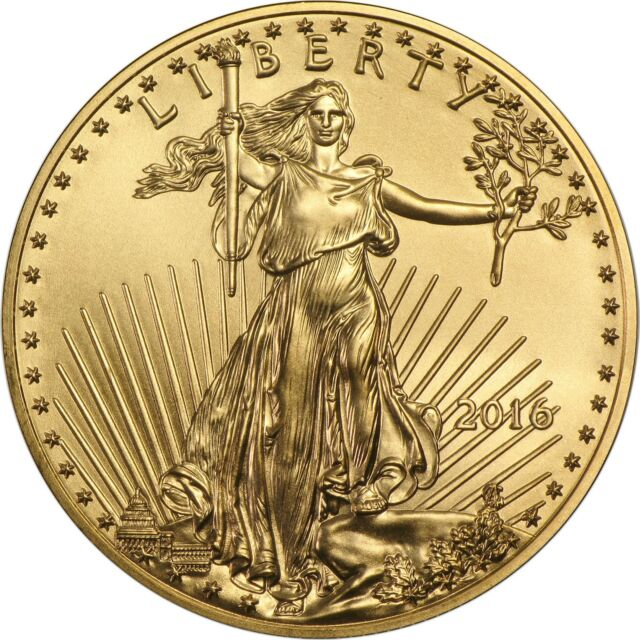 2016 Gold American Eagle (GAE) 1/2oz (Half Ounce) $25 BU