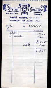VILLENEUVE-sur-ALLIER-03-HOTEL-DE-LA-TOUR-D-039-ARGENT-034-Andre-RAQUE-Proprio-034-1962