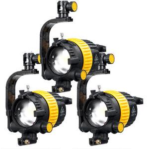 3x 50 W Video Studio High Cri Bi-color Del émetteur Vidéo Fresnel Light Comme Arri-afficher Le Titre D'origine
