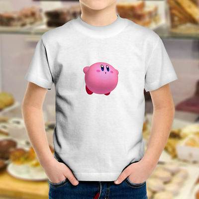 Kirby Super Star Kawaii Pink Cute Video Game Cartoon Kids Boys Youth Tee T-Shirt