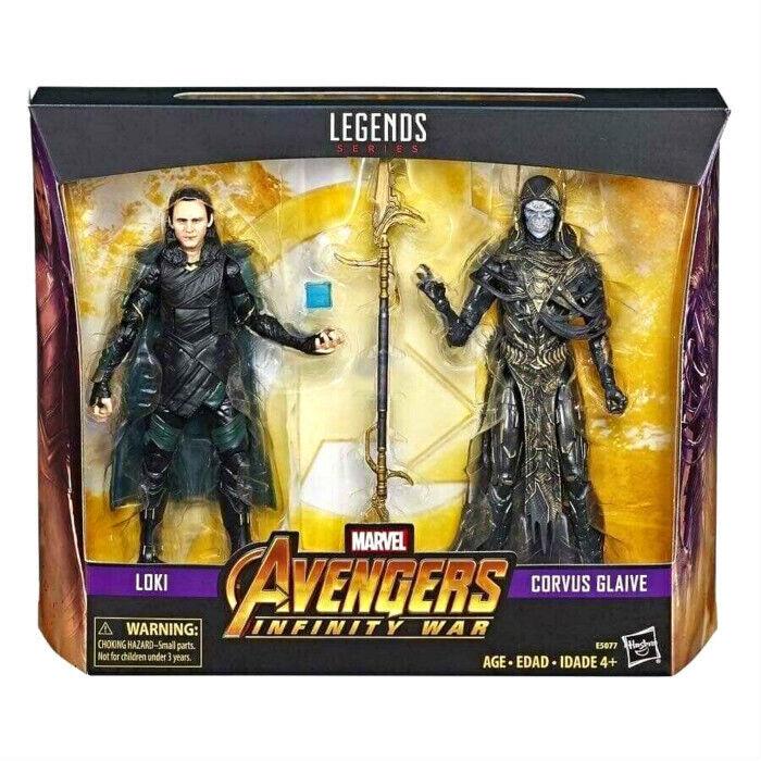 (InHand) förundras Legends Series Avengers Infinity War Loki och Corvus Glaive Set