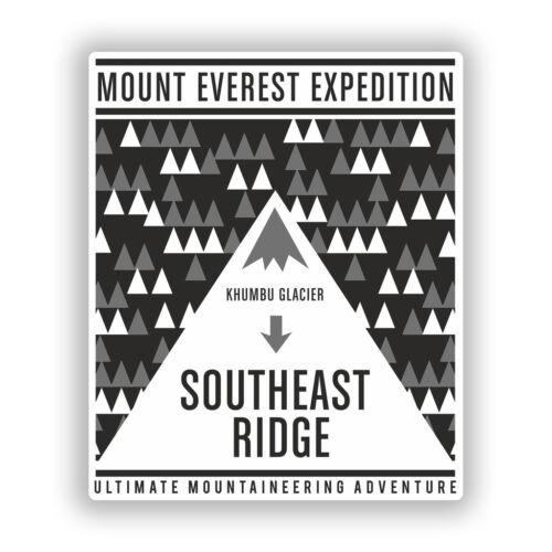 2 x Mount Everest Vinyl Stickers Travel Luggage #10496