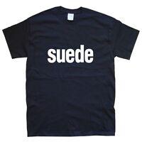 SUEDE T-SHIRT sizes S M L XL XXL colours Black, White anderson
