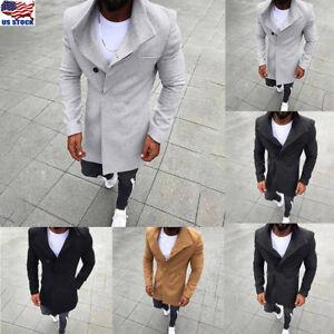 Mens-Long-Trench-Wool-Coat-Winter-Warm-Outwear-Jacket-Overcoat-Peacoat-Plus-Size