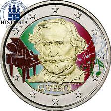 Italien 2 Euro Gedenkmünze 2013 bfr. Giuseppe Verdi in Farbe
