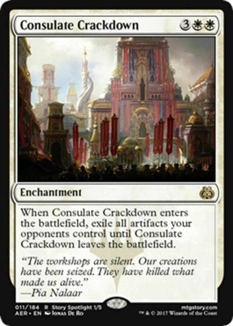 MTG Magic - (R) Aether Revolt - Consulate Crackdown FOIL - SP