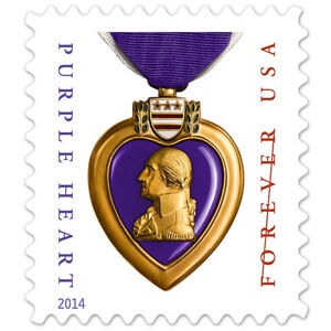 USPS-New-Purple-Heart-Stamp-Sheet-of-20-2014