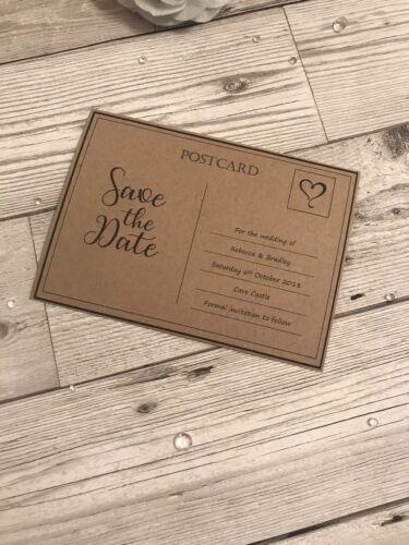 10 Personnalisé simple Save the Date cartes