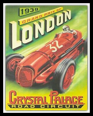 ZURICH GRAND PRIX 1939 METAL SIGN 8x10in pub bar shop cafe diner garage racing