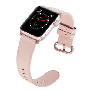 PASBUY-53B-Genuine-Leather-Band-for-Apple-Watch-Series-4-3-2-1-38-40mm-PinkSand