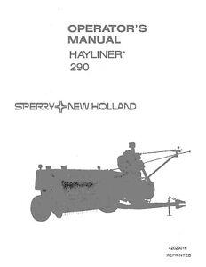 New Holland 290 Baler Operators Manual