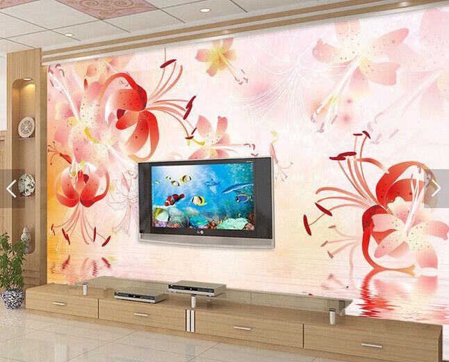 3D Adorn Flowers 51 Wallpaper Murals Wall Print Wallpaper Mural AJ WALL AU Kyra