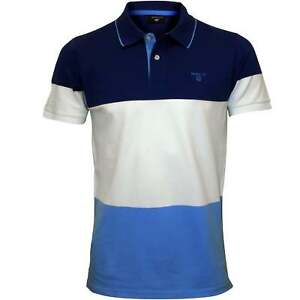 ff9d78e6039 Gant 3-Colour Stripe Pique Rugger Men's Polo Shirt, Yale Blue | eBay