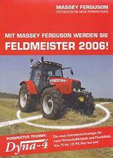 Massey Ferguson Dyna 4 Traktor Prospekt 2005 Broschüre Trecker Landmaschine