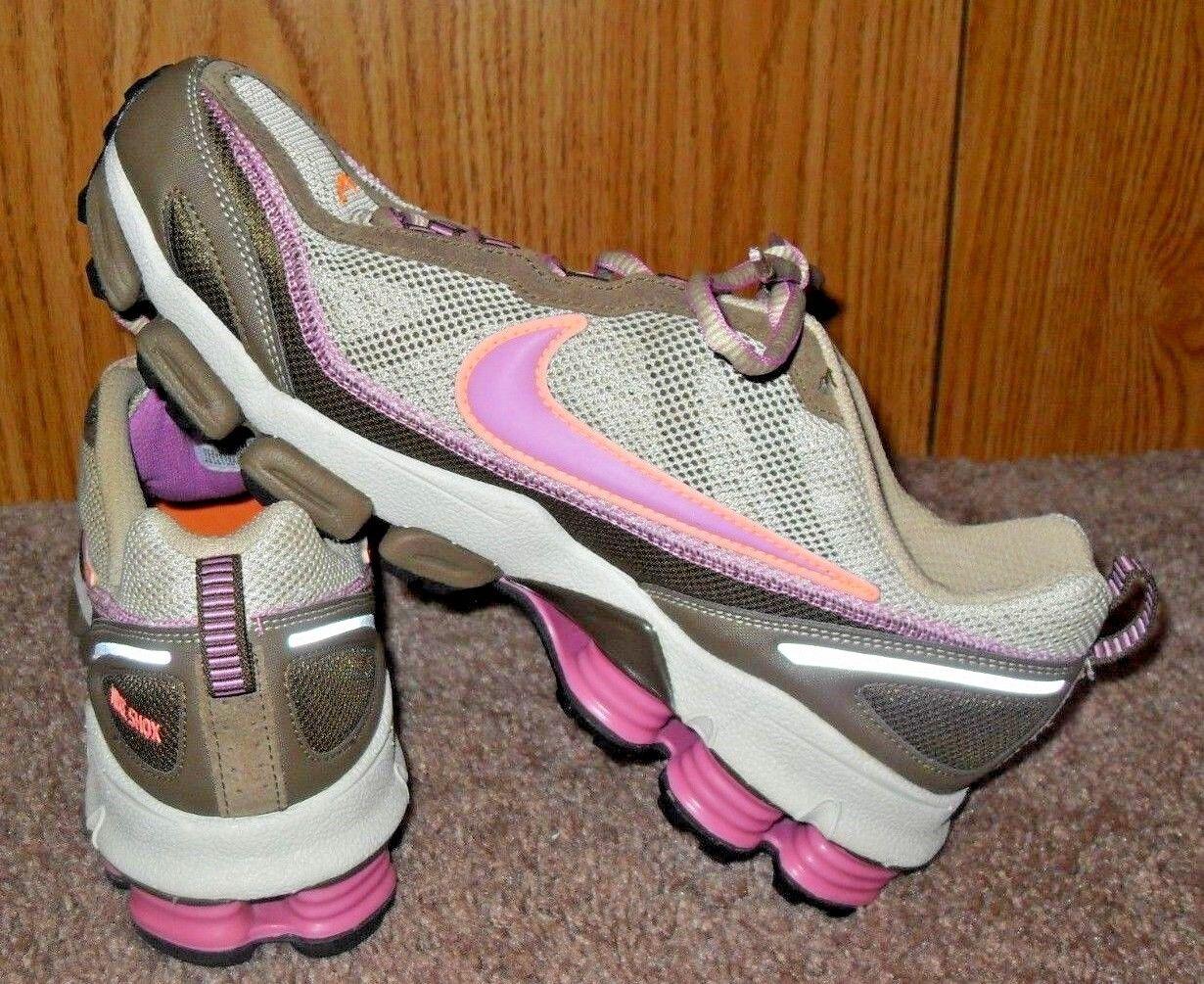 NWOT! WOMEN'S 2007 NIKE SHOX Running Shoes BROWN, TAN, PINK, ORANGE US 11.5