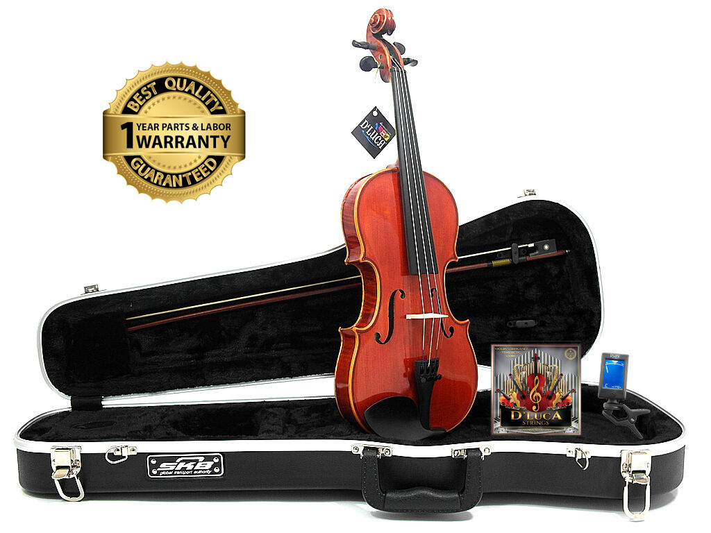 D'Luca Strauss 400 Concerto Violin 4/4 with SKB Molded Case, Strings and Tuner