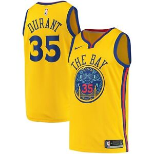 bb624a3db709 2018 Nike NBA Golden State Warriors Kevin Durant 35 City Edition ...