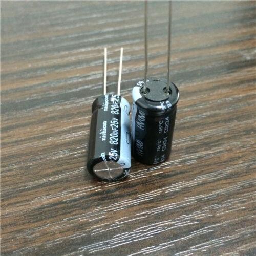 10pcs 820uF 25 V Nichicon haute tension 10x20mm 25V820uF Super Basse Impédance Condensateur