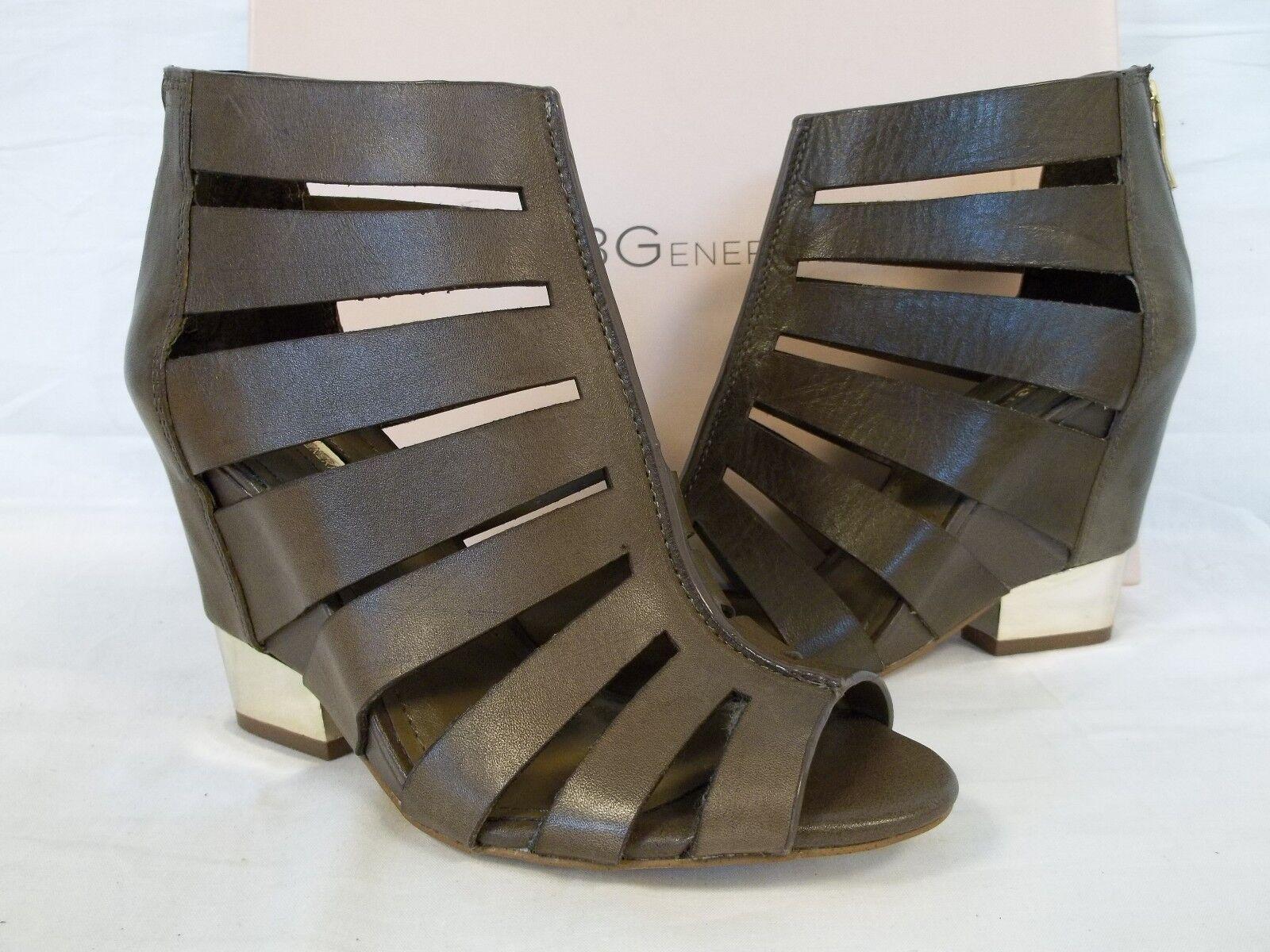 BCBGeneration BCBG 6 M Charlie Slate Leder Wedges Heels NEU Damenschuhe Schuhes NWOB