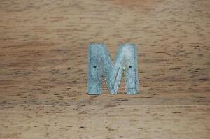 Antigua-pequena-cartas-Enseigne-Plomo-Mobiliario-Industrial-M-2-5-cm