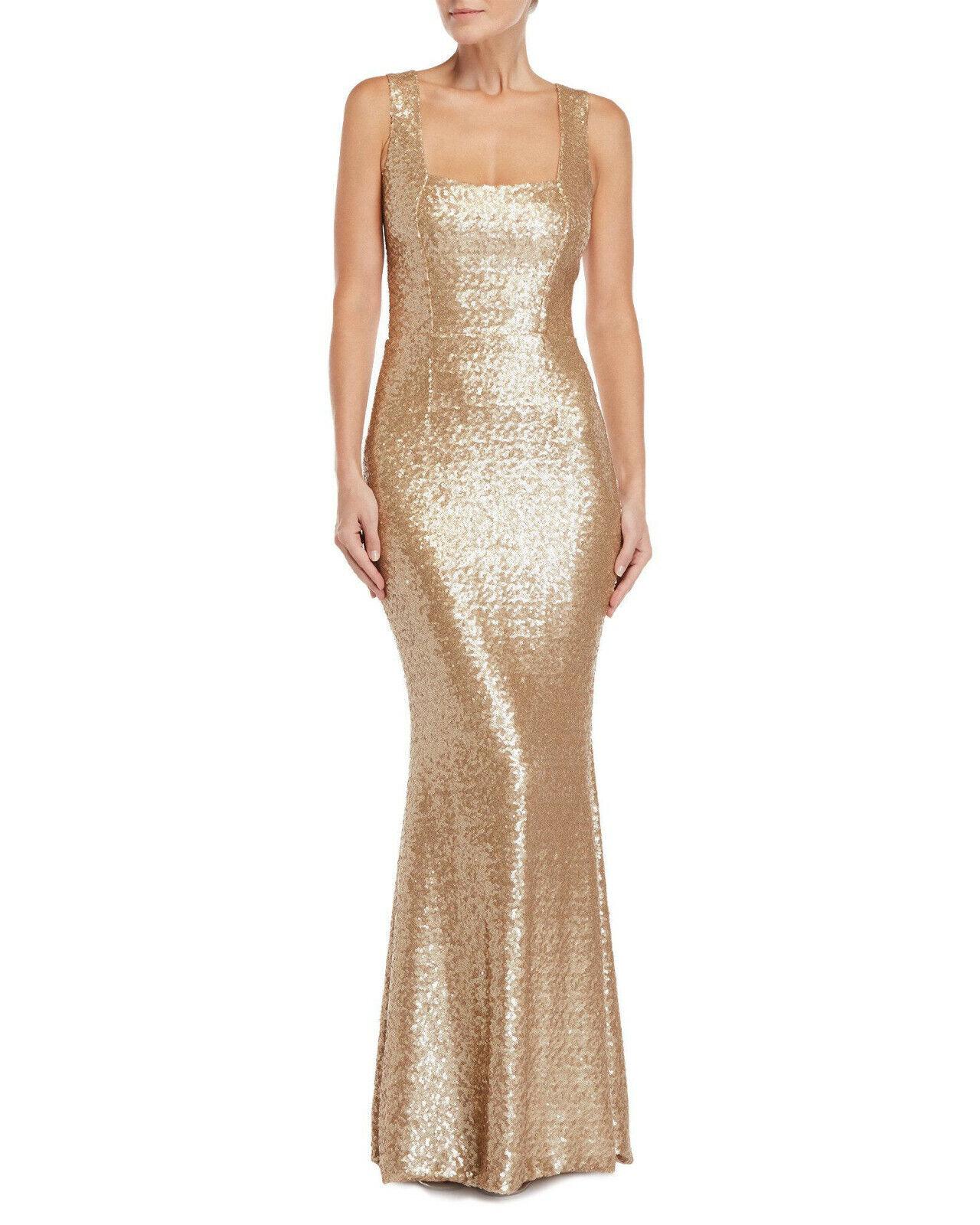 305 Vestido Vestido para  la población Raven con Lentejuelas estilo Sirena Talla L Grande De oro  tomar hasta un 70% de descuento