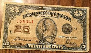 1923-DOMINION-OF-CANADA-PAPER-MONEY-25-CENTS-1923-PAPER-BILL