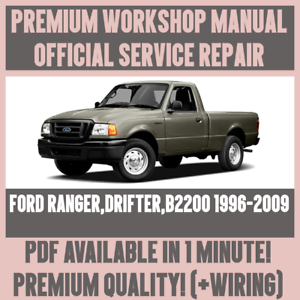 WORKSHOP-MANUAL-SERVICE-amp-REPAIR-GUIDE-for-FORD-RANGER-DRIFTER-B2200-1996-2009