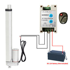 "12/"" 220lbs 12V DC Linear Actuator W// Wireless Control Kit for Auto Car Door Open"