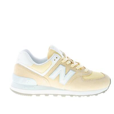 NEW BALANCE women shoes Sun glow Yellow suede and mesh tech fabric 574  sneaker | eBay