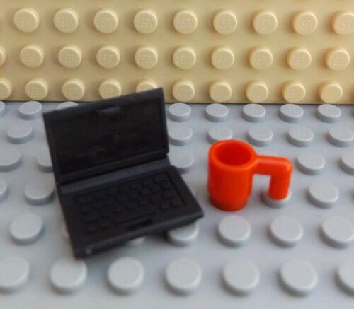 Lego Brand New Mini Figure Girl Lady Ordinateur Portable Mug Teacher Travailleur écrivain City Life