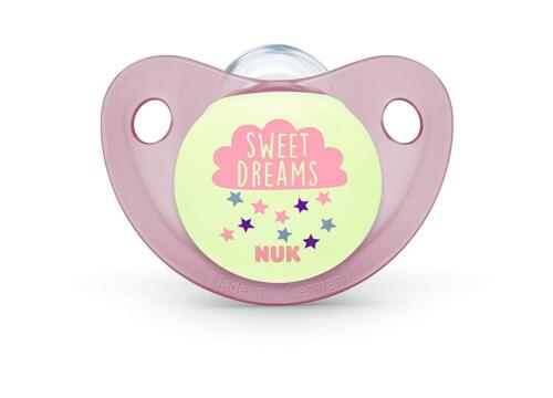 NUK Night /& Day Silicone Soothers Size1 And Size2 Blue /& Pink